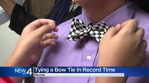 Racine 12-year-old ties bow tie fastest, breaks Guinness World...